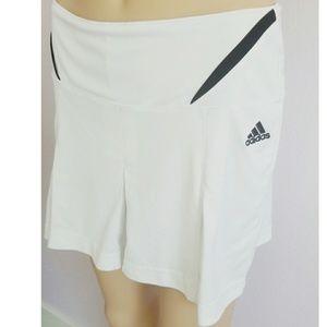 Adidas white tennis skirt size small